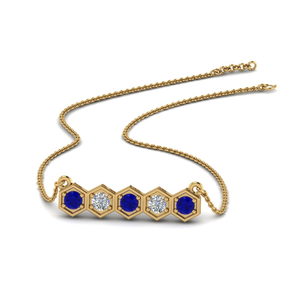 pave-hexagon-diamond-necklace-with-sapphire-in-FDPD86609GSABL-NL-YG