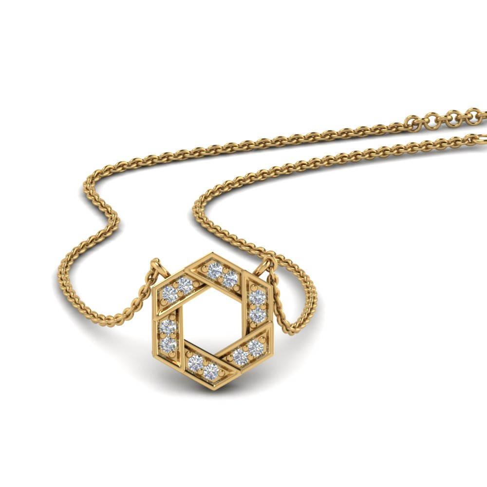 Classic Hexagon Diamond Pendant