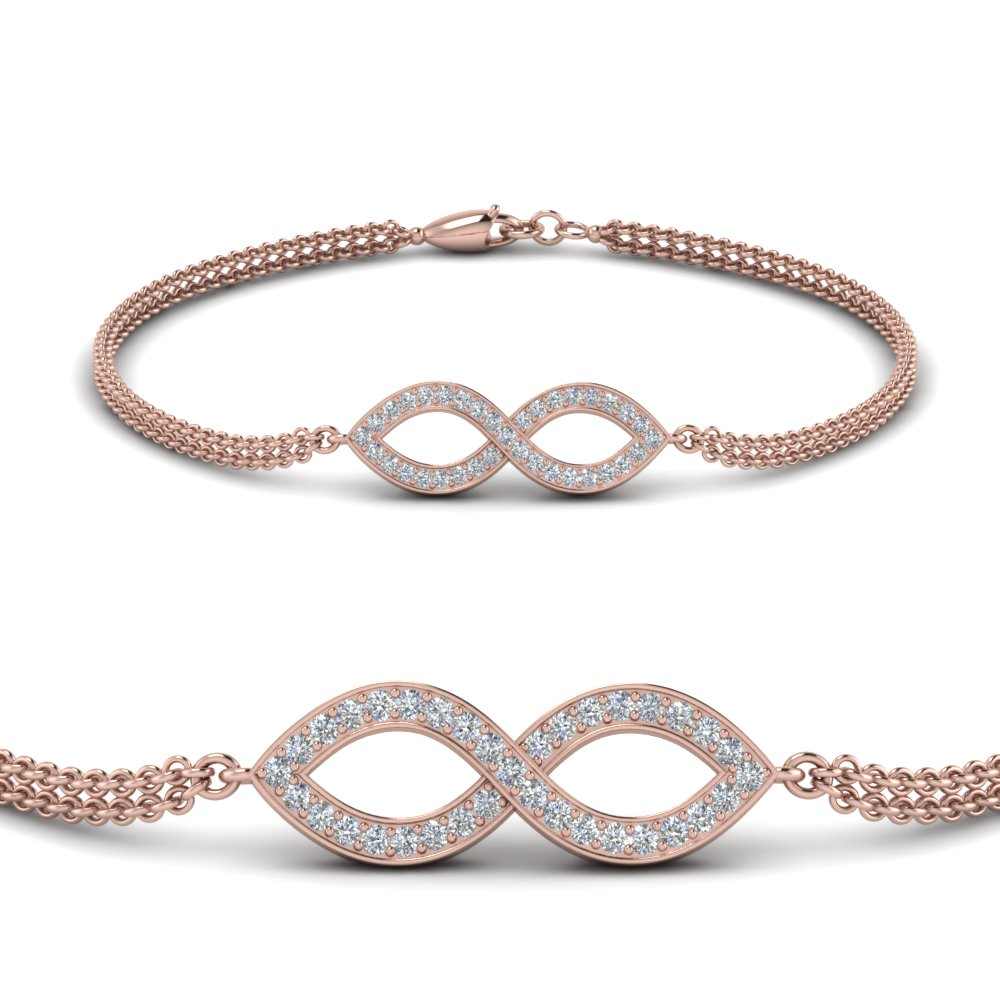 Pave Infinity Bracelet With Diamond