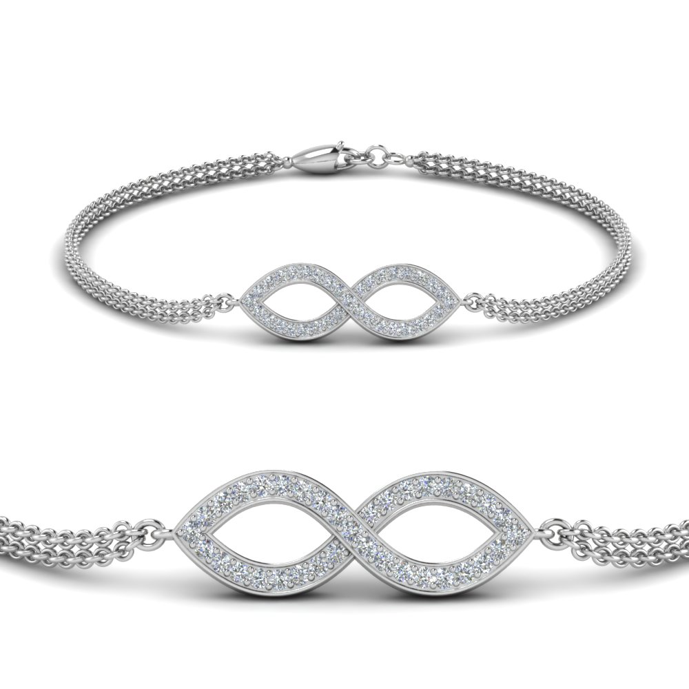 Pave Infinity Bracelet With Stones