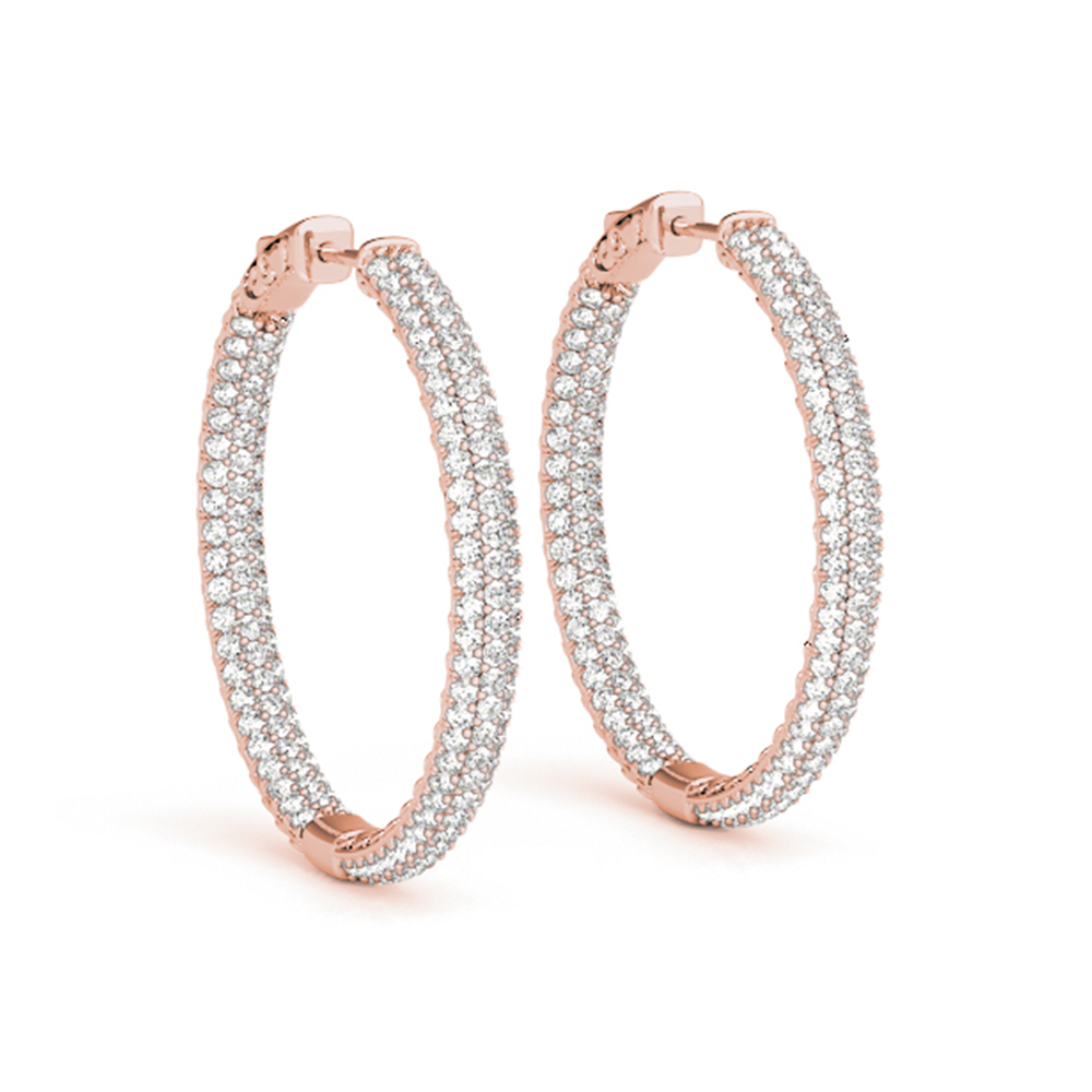 pave inside out hoop diamond earring in FDOEAR41022ANGLE1 NL RG