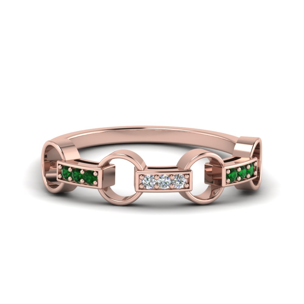 Rose Gold Women Wedding Band