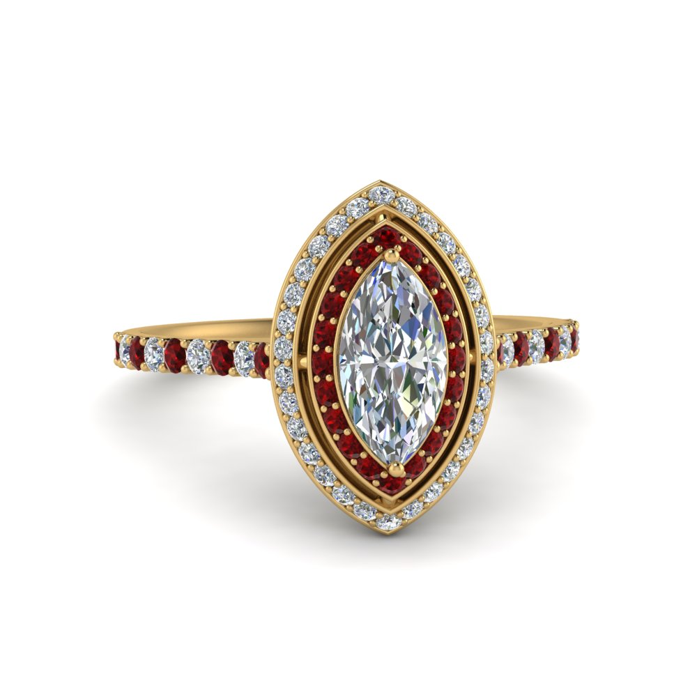 pave-marquise-cut-diamond-ring-with-ruby-halo-in-FD121992MQRGRUDR-NL-YG