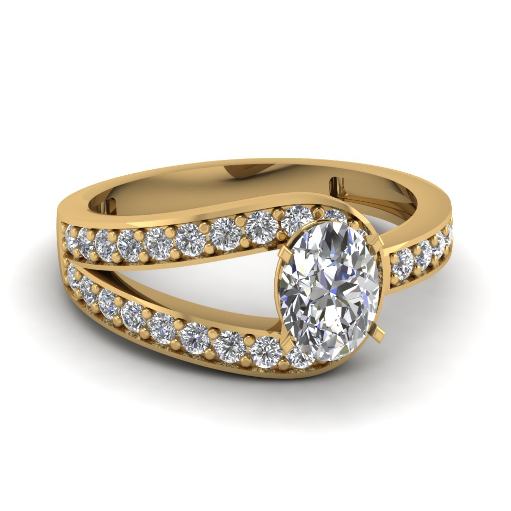 Oval Diamond Alternative Engagement Ring
