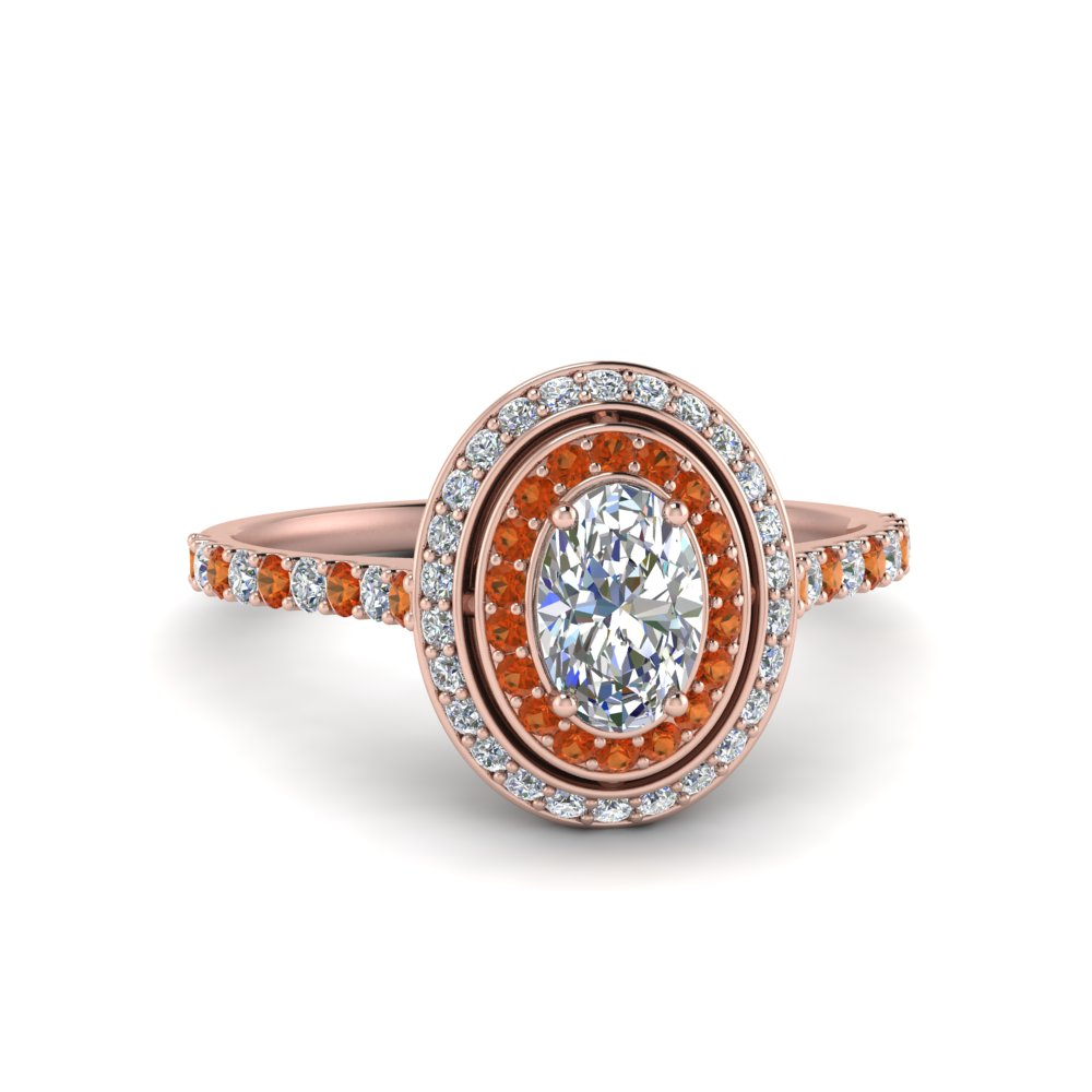 pave-oval-shaped-diamond-ring-with-orange-sapphire-halo-in-FD121992OVRGSAOR-NL-RG