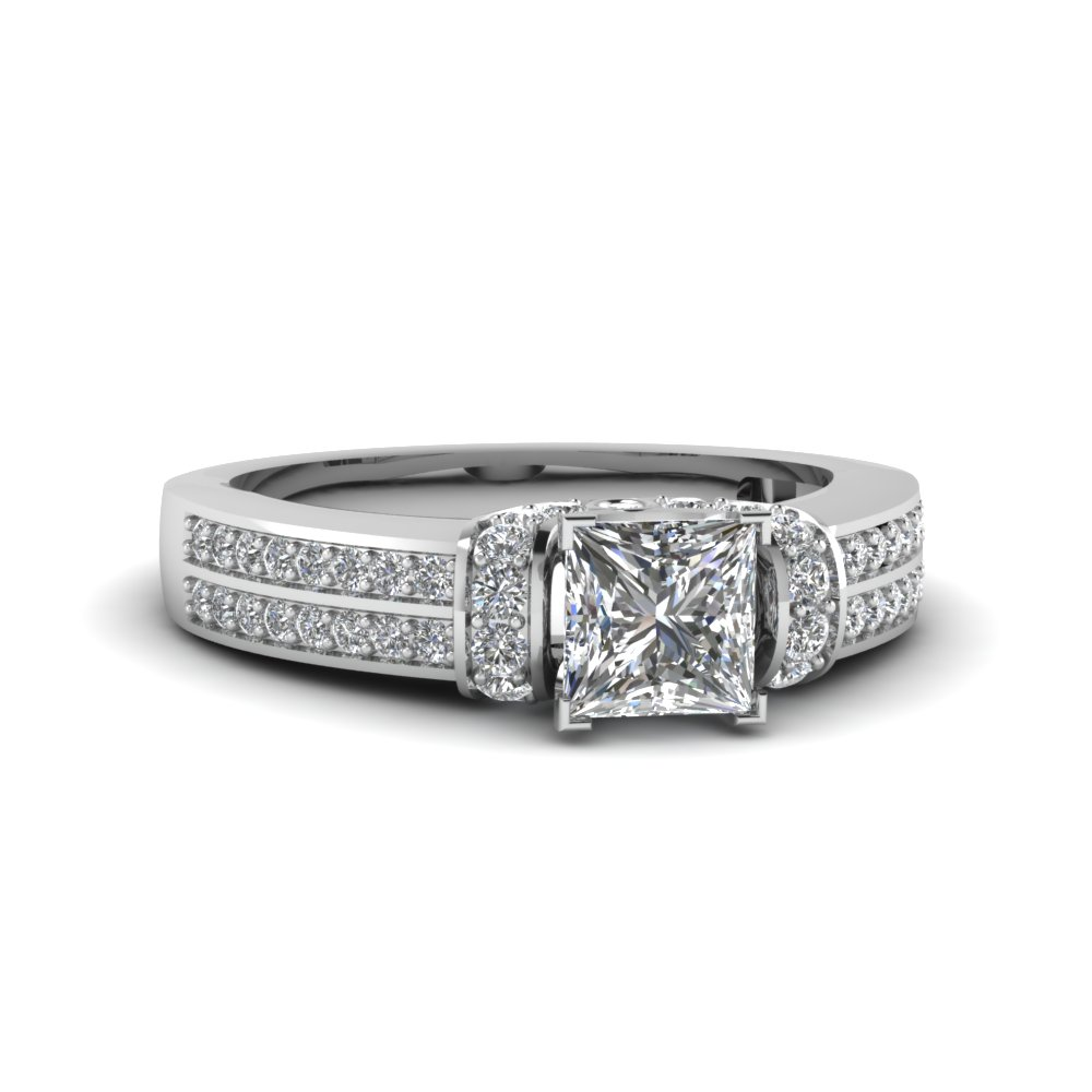 3/4 Carat Princess Cut Diamond Engagement Rings