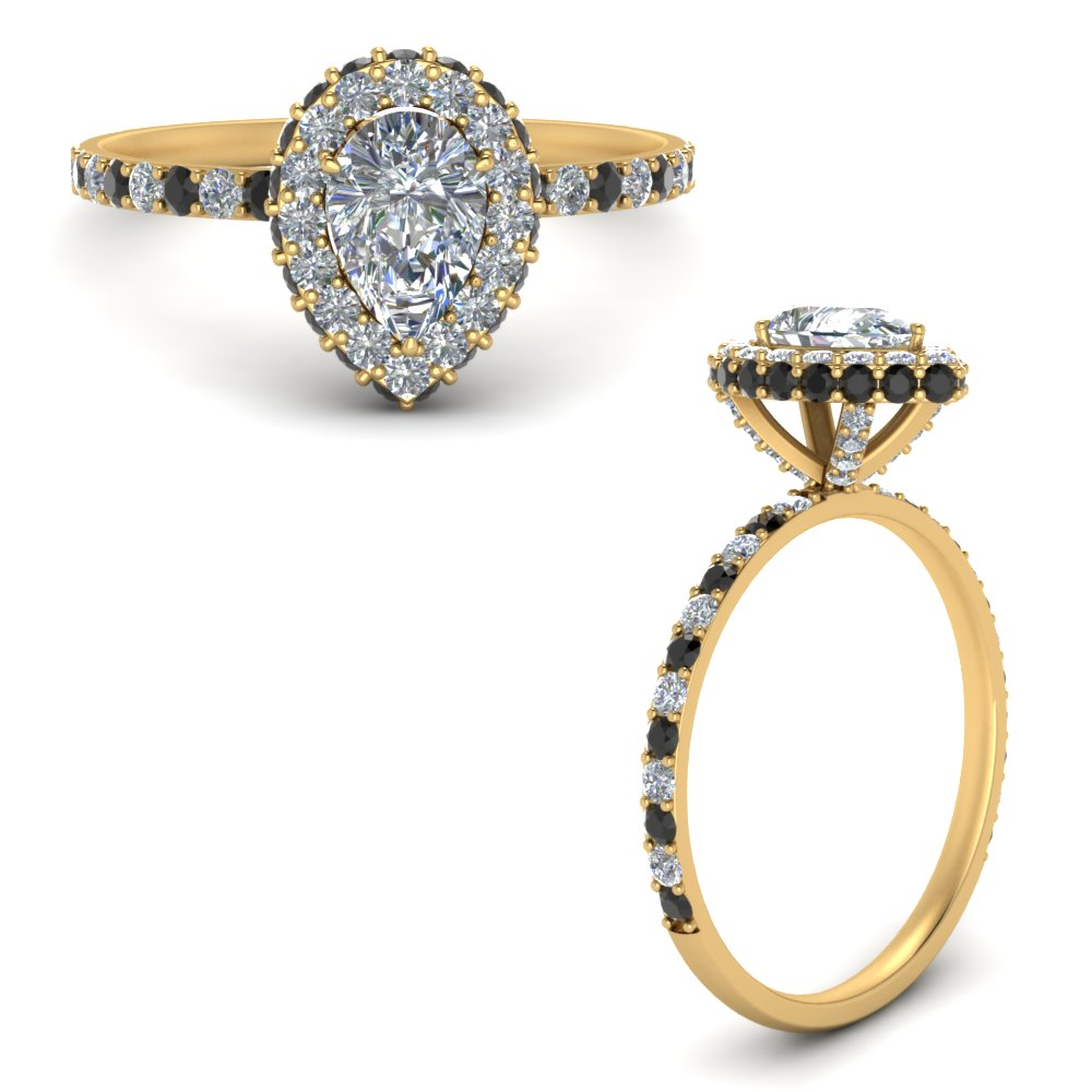 pave-rollover-pear-halo-engagement-ring-with-black-diamond-in-FD9376PERGBLACKANGLE3-NL-YG