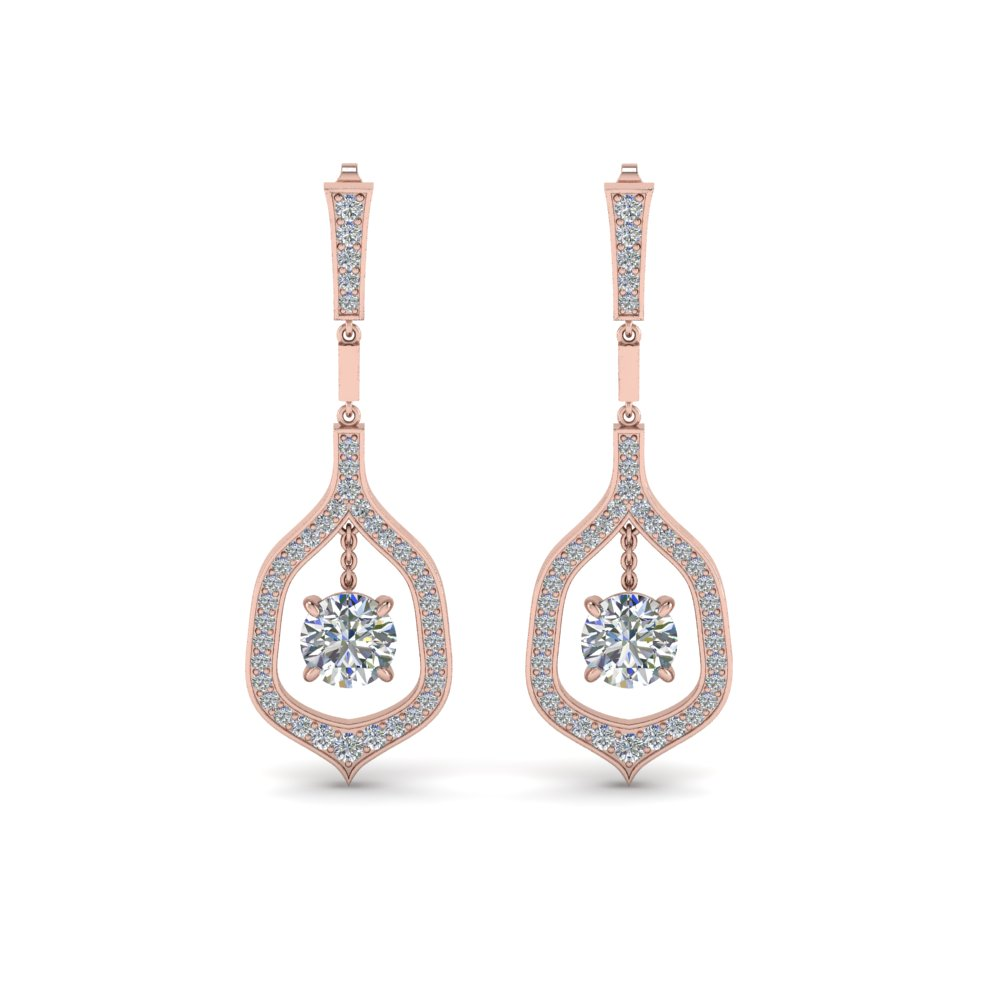 Pave Round Cut Diamond Earring