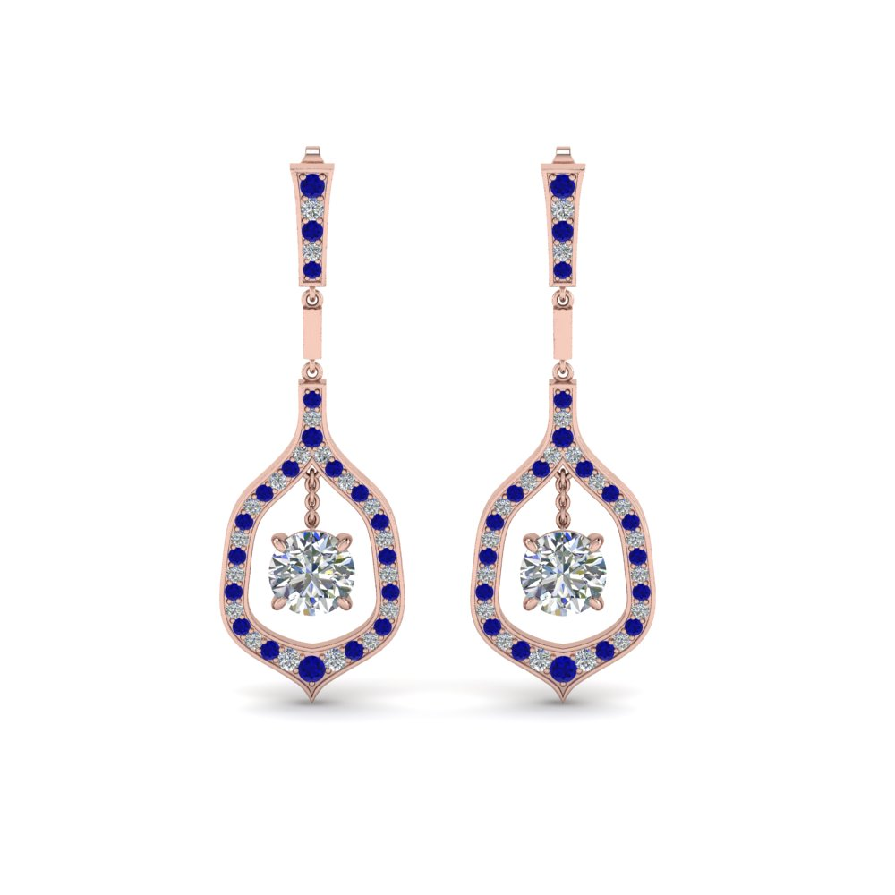 Pave Drop Earring For Women