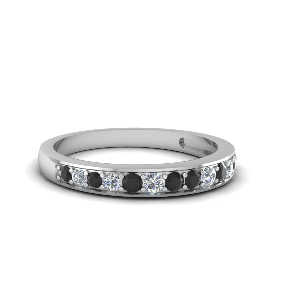 Pave Black Diamond Women Band