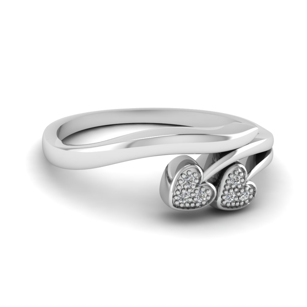 pave white diamond promise ring in sterling silver FD68832 NL WG