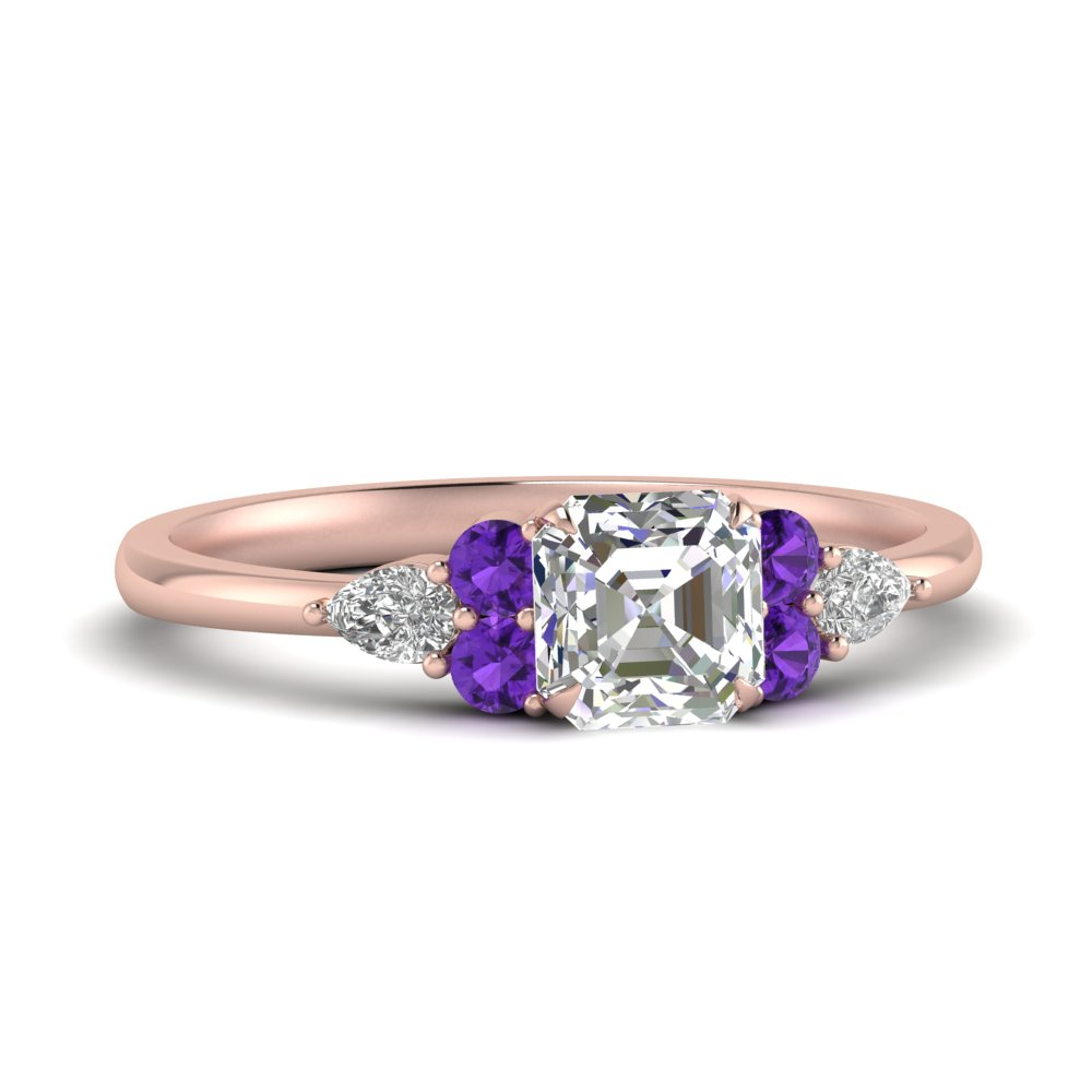 pear-accented-asscher-cut-diamond-ring-with-purple-topaz-in-FD9289ASRGVITO-NL-RG