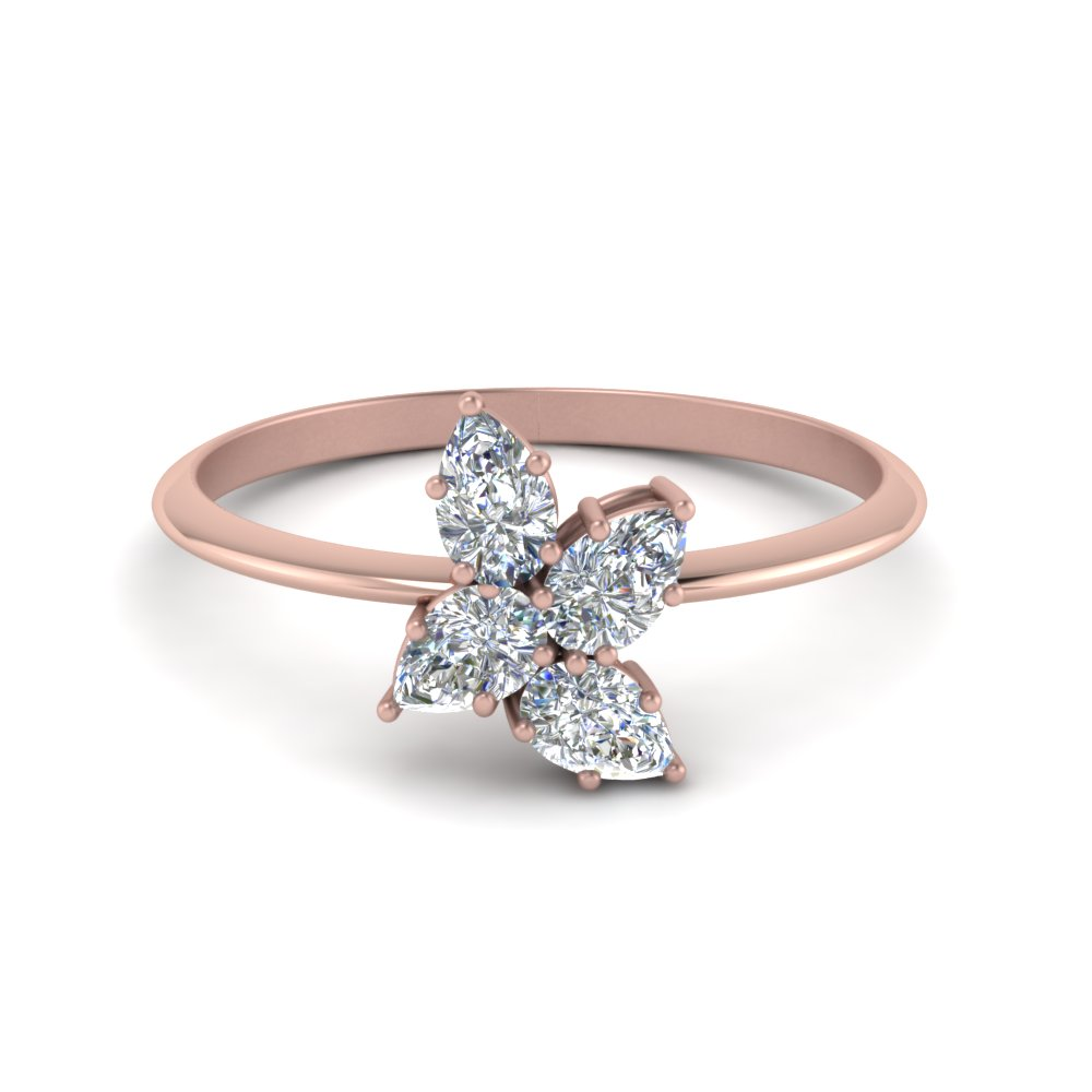Diamond Cluster Ring Rose Gold