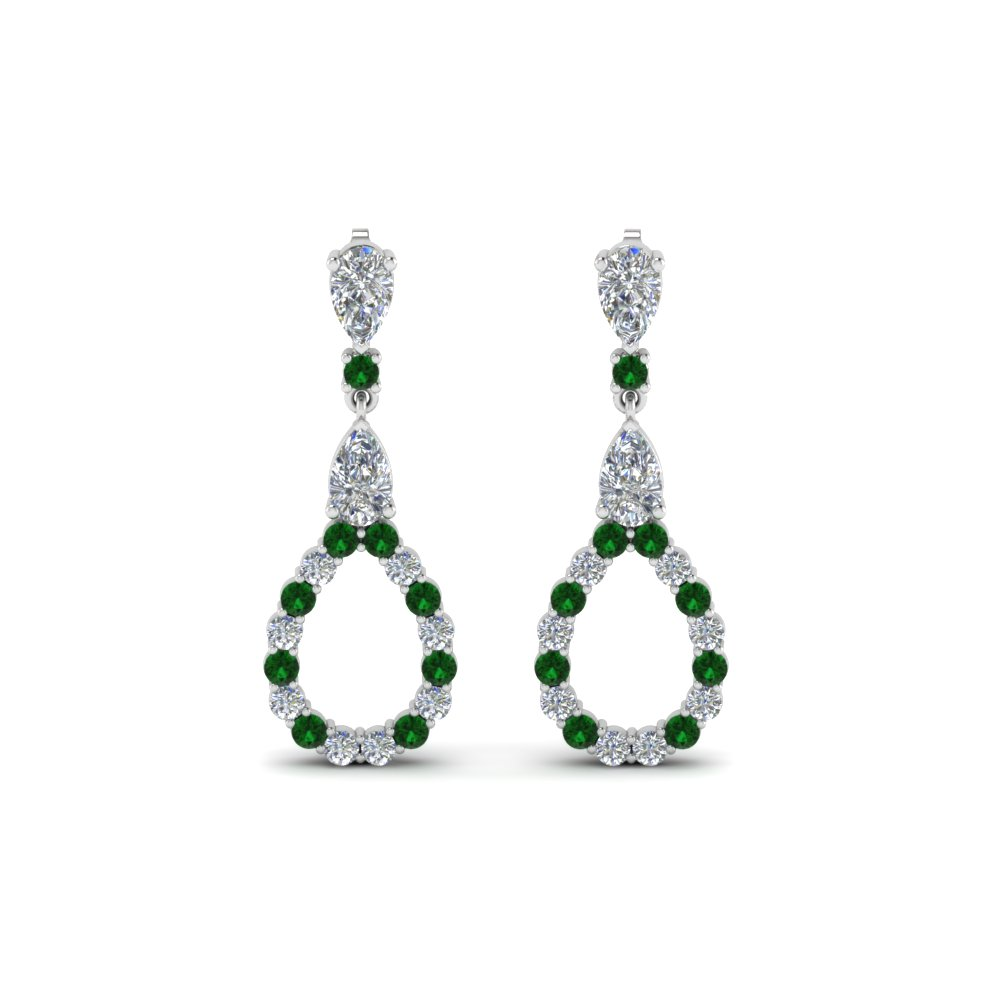 Pear Style Green Drop Earrings