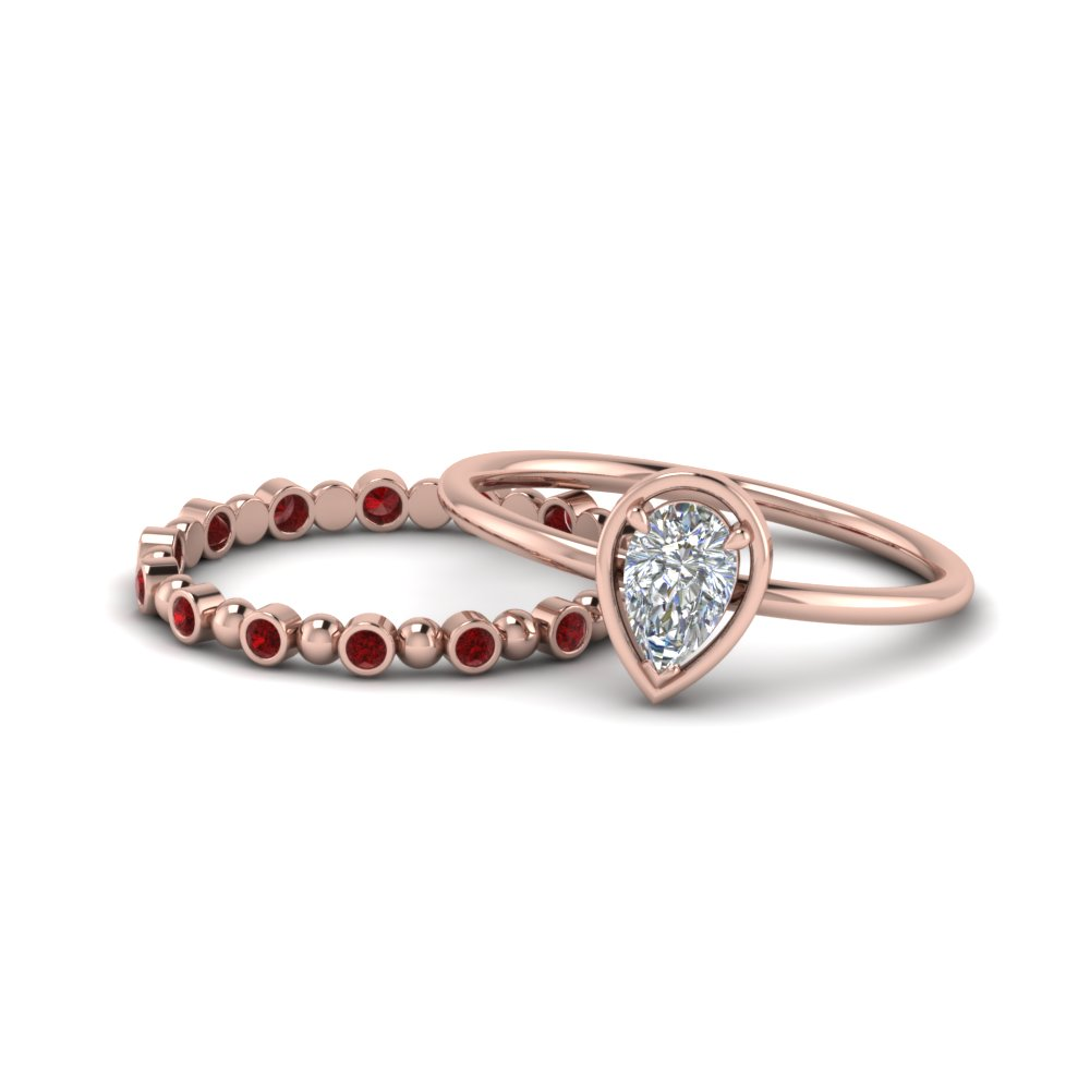 pear-petite-ruby-wedding-ring-set-in-FD9089GRUDR-NL-RG-GS