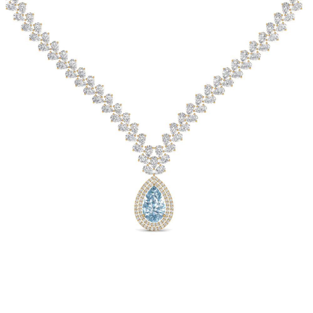 shaped jeweler necklace pendant bridge diamond ben topaz jewelry blue pear