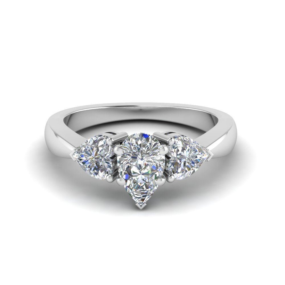 Pear & Hearts Engagement Ring