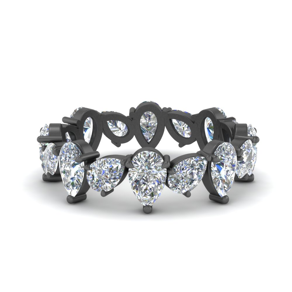 pear shaped 3.20 ct. diamond eternity band in 14K black gold FDEWB8934 NL BG.jpg