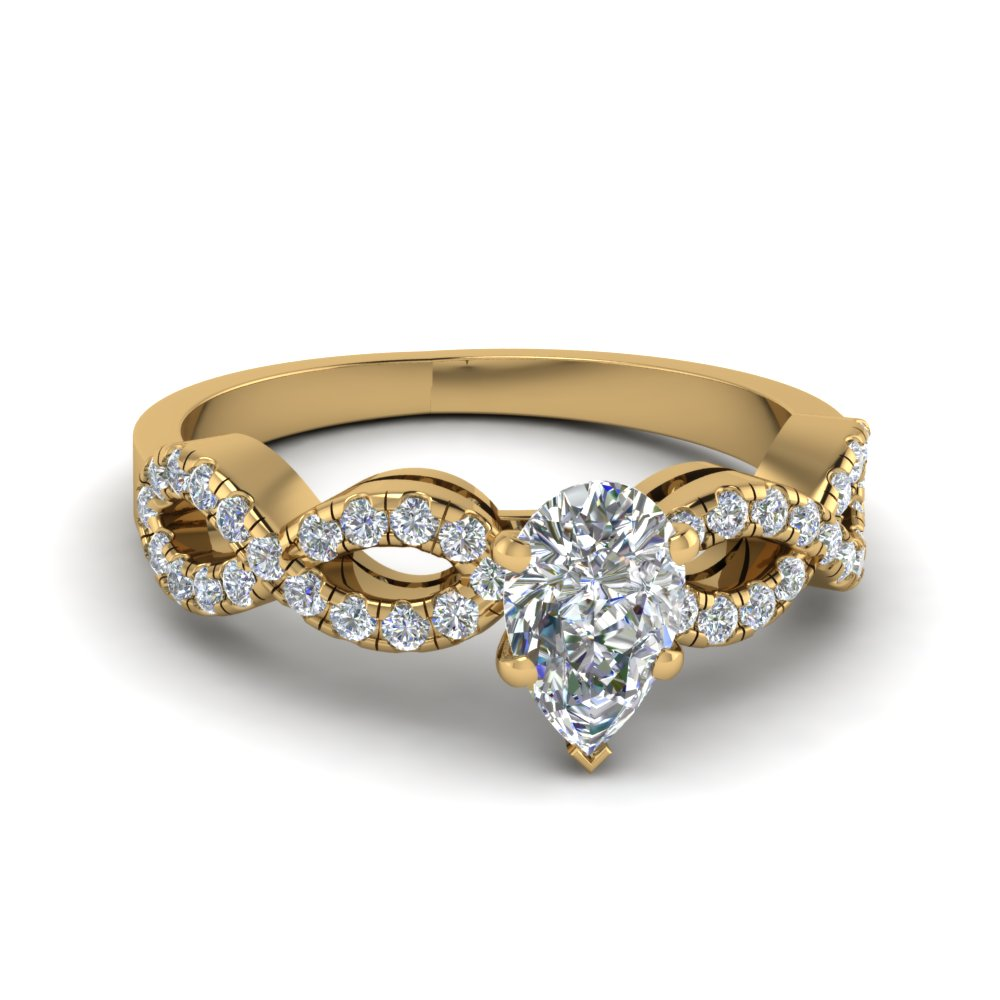 Pear Shaped Split Shank Engagement Rings