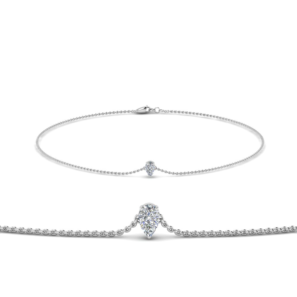 Pear Diamond Chain Bracelet
