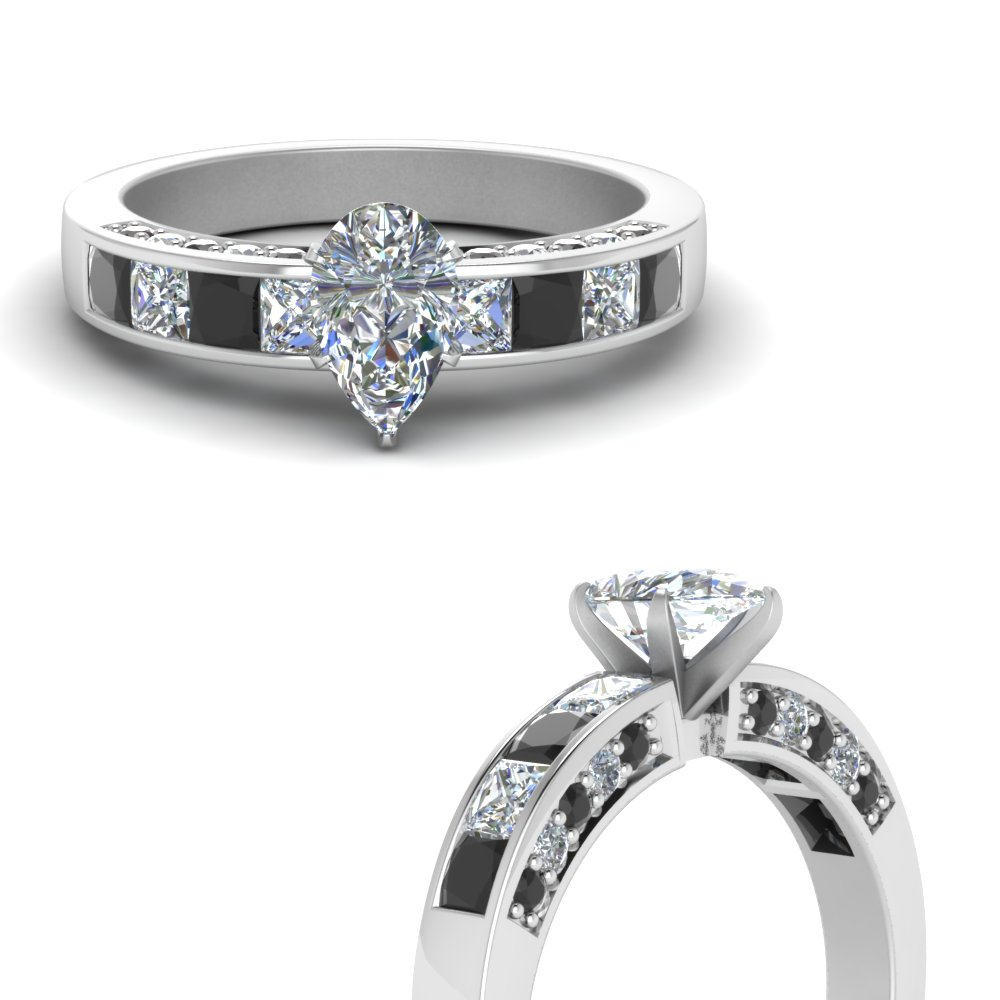 pear shaped channel engagement ring with black diamond in FDENS198PERGBLACKANGLE3 NL WG.jpg