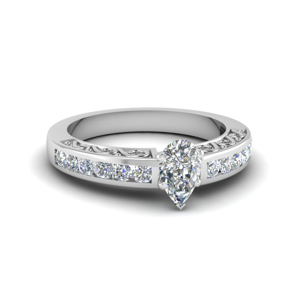 3/4 Ct. Pear Shaped Diamond Ring For Women