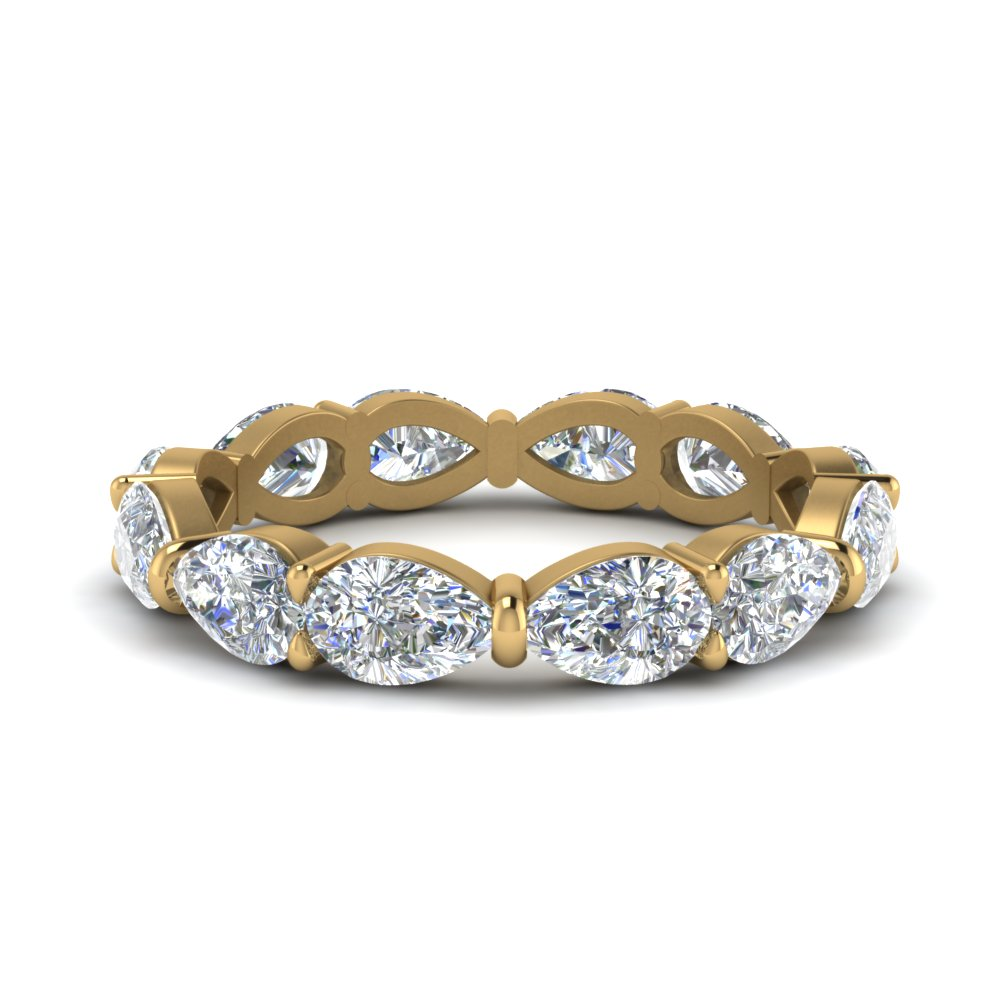 Pear Shaped Diamond 3 Carat Eternity Band