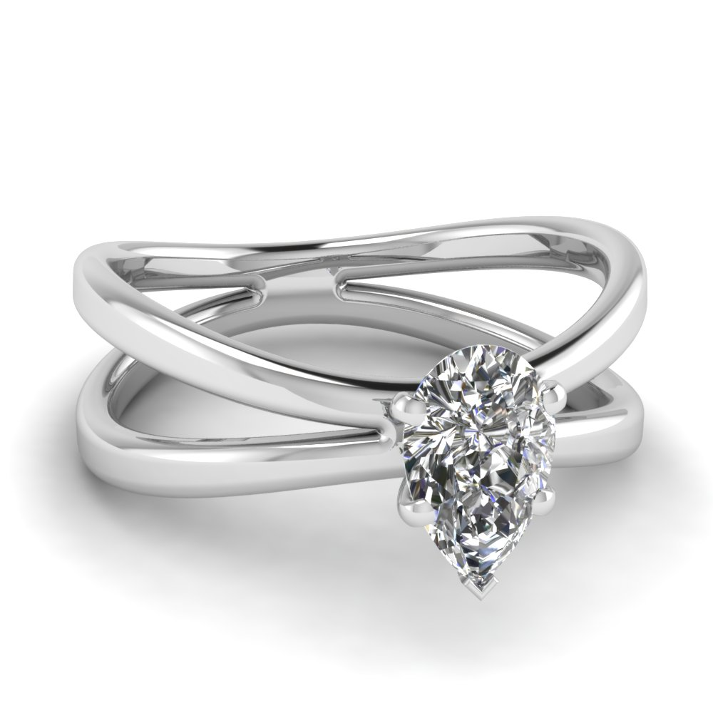 diamond pave engagement berrys rings platinum amp shaped cut pear certified image set surround ring