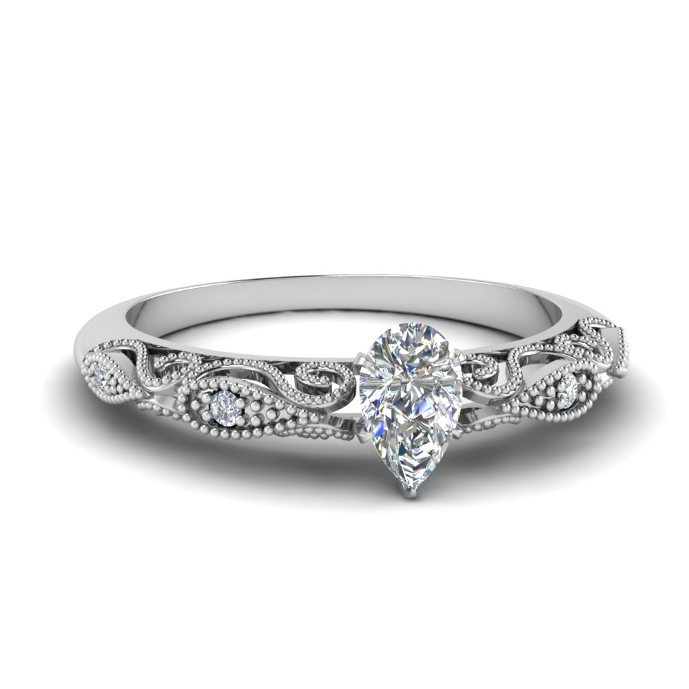 paisley pear diamond engagement ring in FD69805PER NL WG