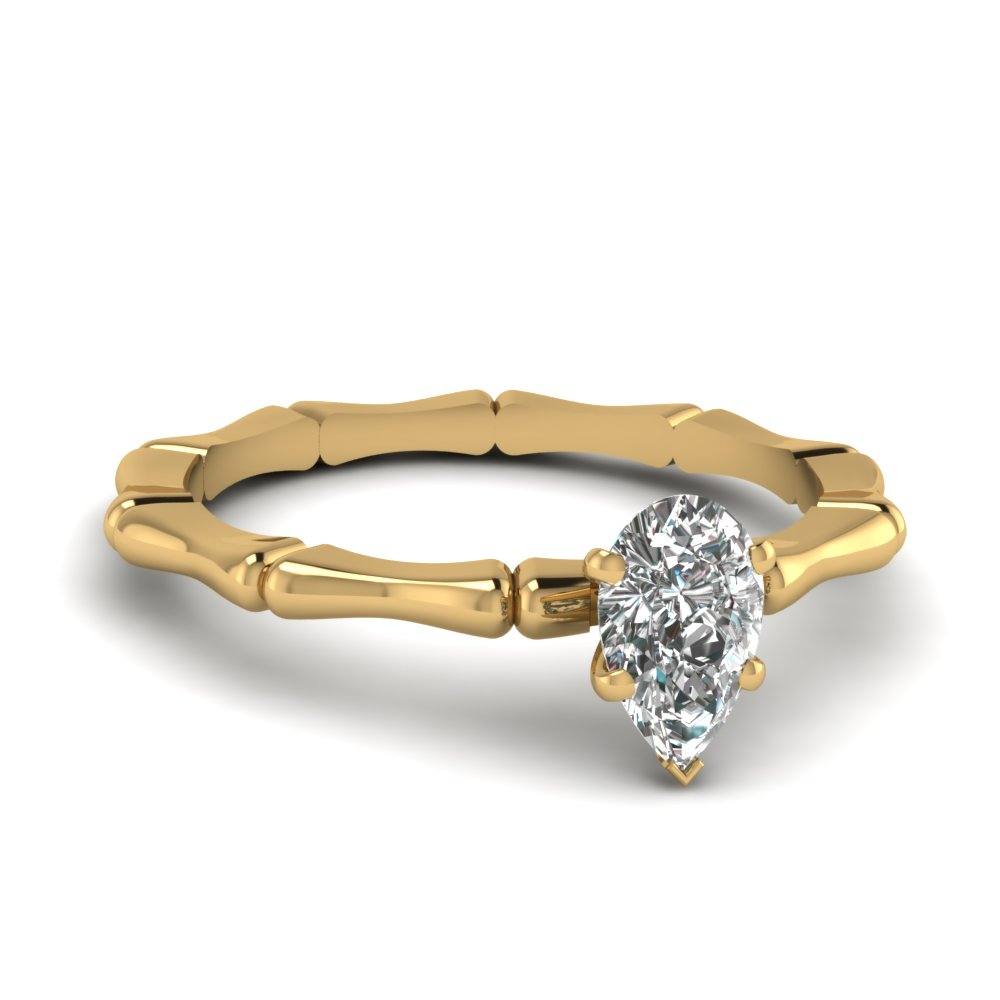 solitaire bone engagement ring in FDENS1823PER NL YG