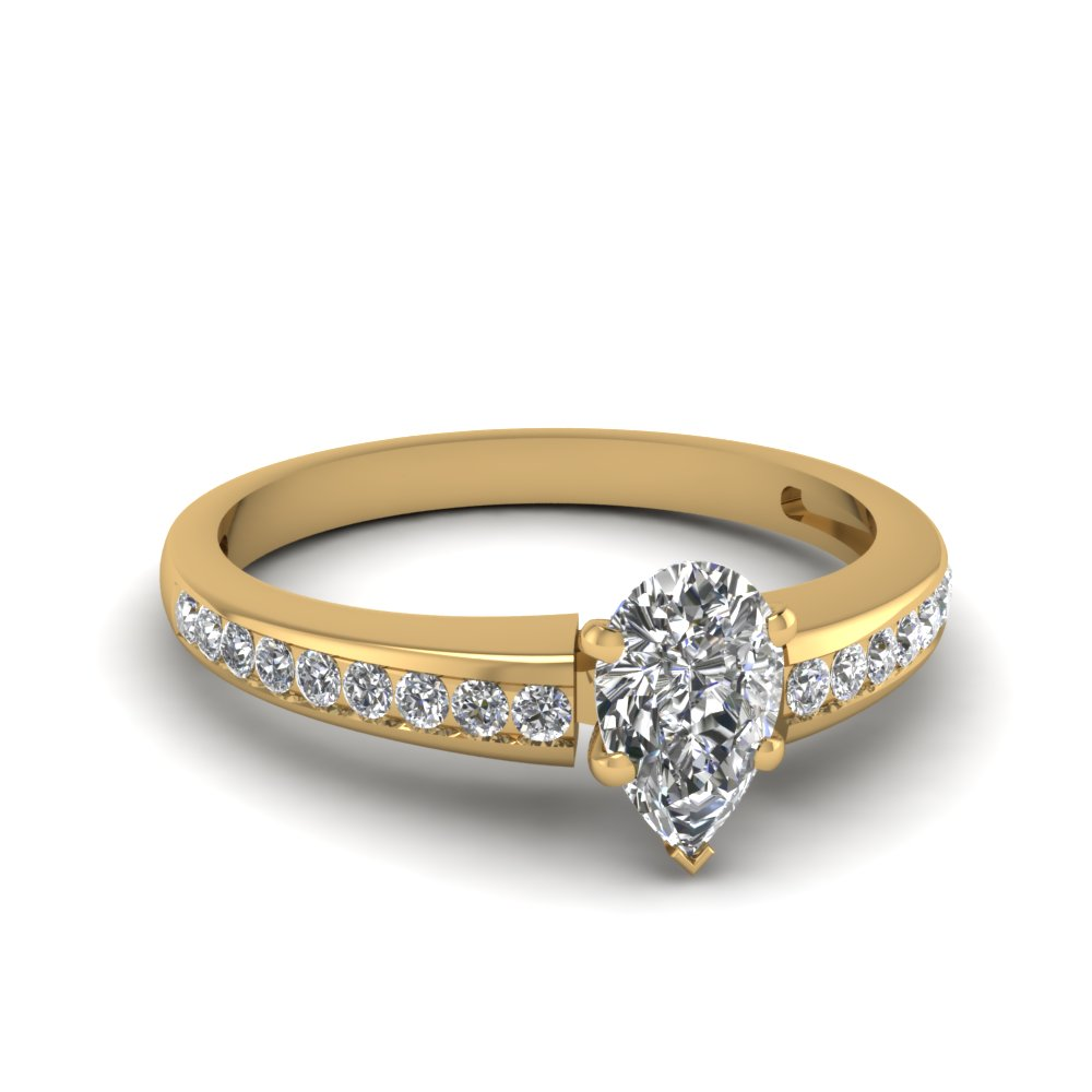 Half Carat Pear Shaped Engagement Ring