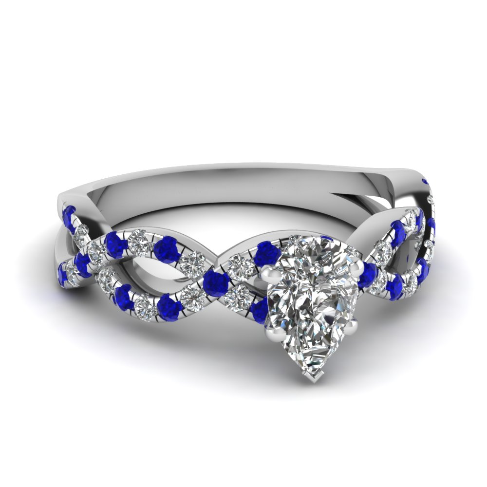 pear shaped infinity diamond ring with sapphire in FD1121PERGSABL NL WG.jpg
