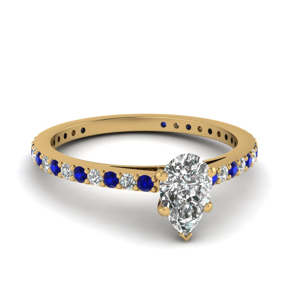 pear-shaped-diamond-engagement-ring-with-blue-sapphire-in-14K-yellow-gold-FDENS1425PERGSABL-NL-YG