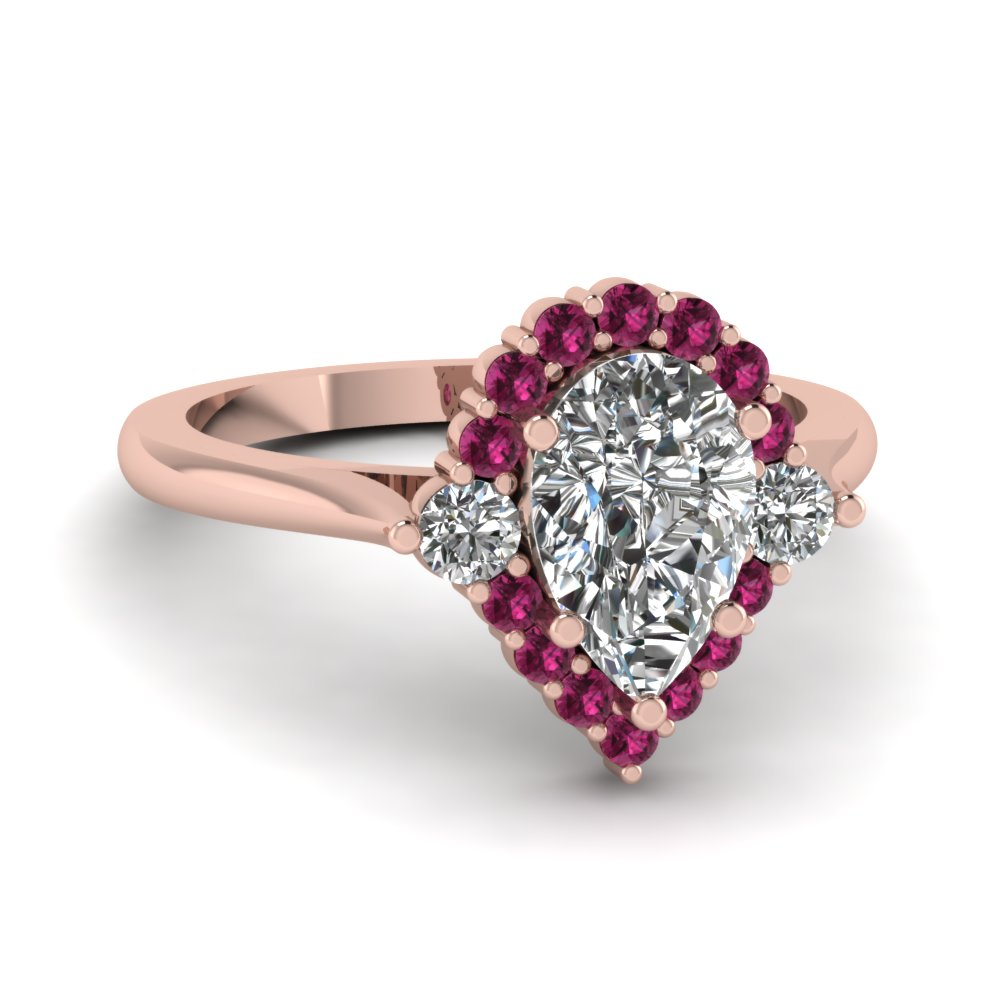 rings pink ring uk diamond halo engagement ndqhlyq