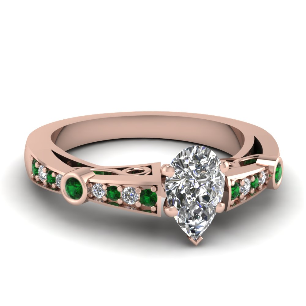 Pear Shaped Vintage Engagement Rings