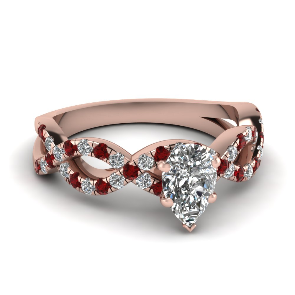 pear shaped infinity diamond ring with ruby in FD1121PERGRUDR NL RG.jpg