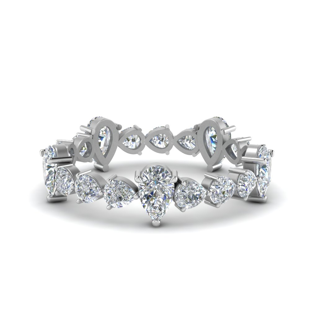 2.5 Carat Pear Shaped Diamond Band