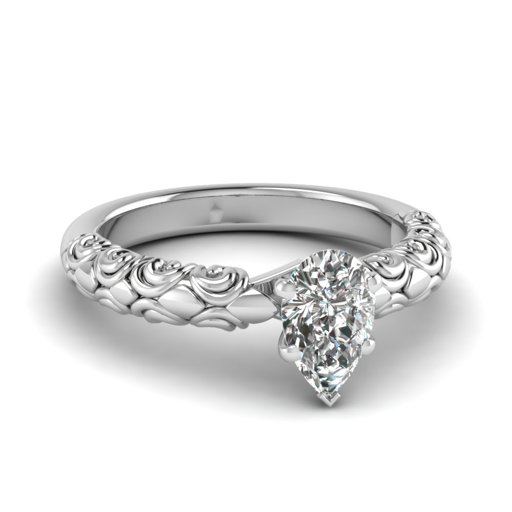 filigree ring filligree k engagement vanna diamond rings