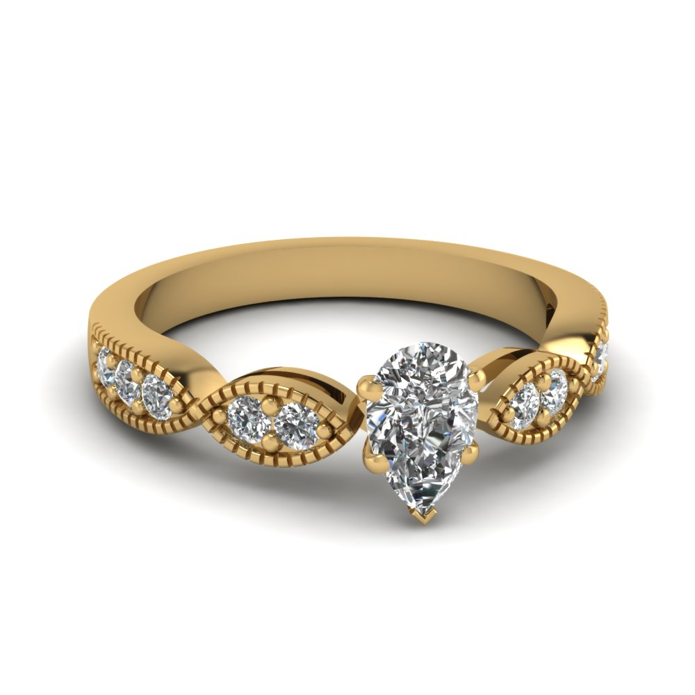 Top 20 Pear Shaped Diamond Ring