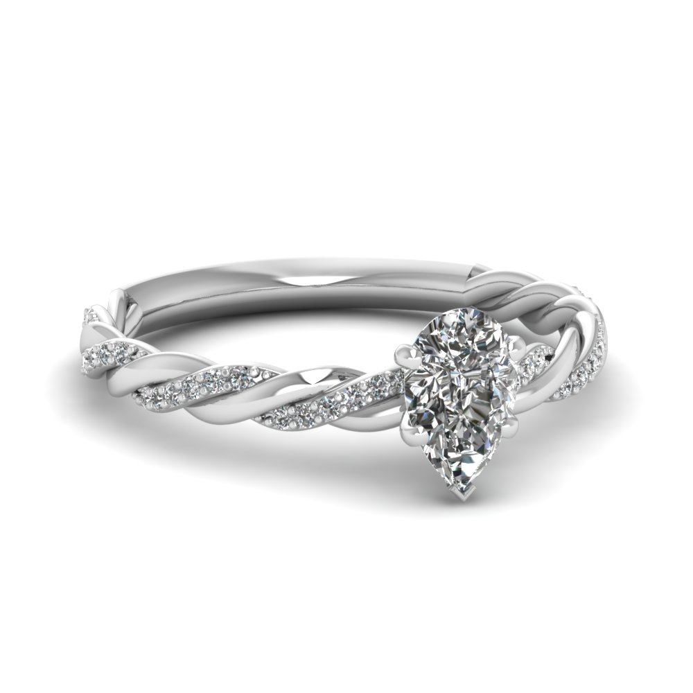 0.50 Carat Pear Shaped Diamond Ring