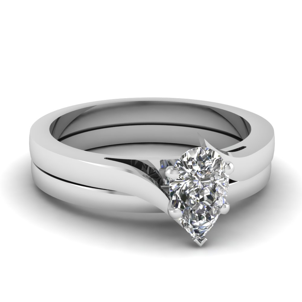 pear-shaped-diamond-serenity-solitaire-wedding-set-in-14K-white-gold-FD1020PE-NL-WG