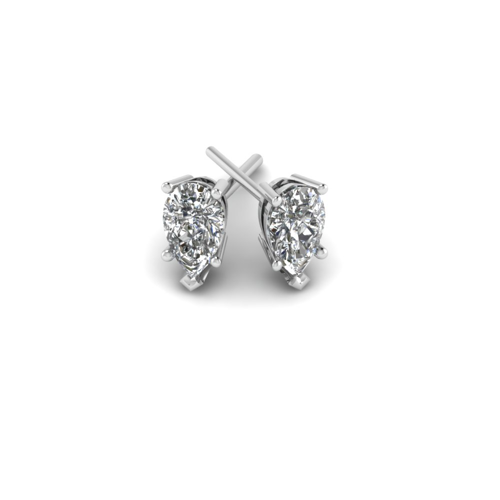 w diamond a studs in rubover shape pear design product stud congenial shaped diamonds