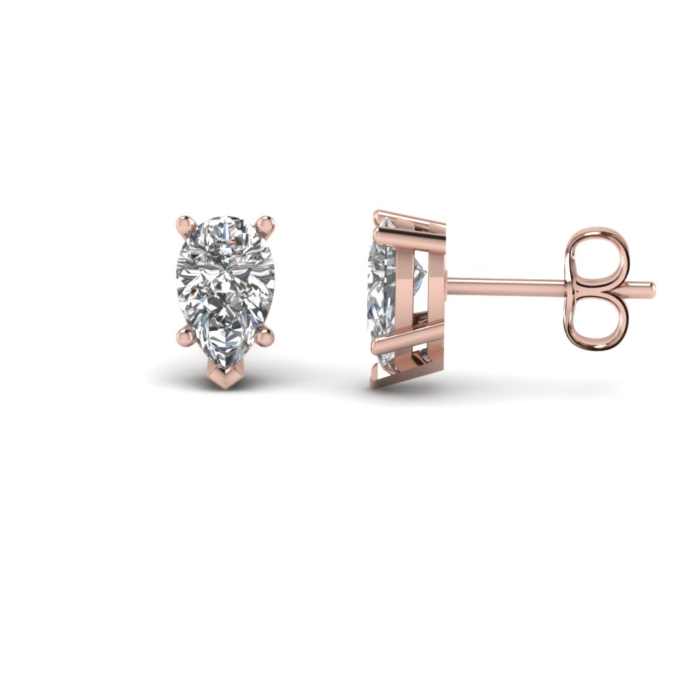 Pear Shaped Diamond Stud Earring 2 Ct.