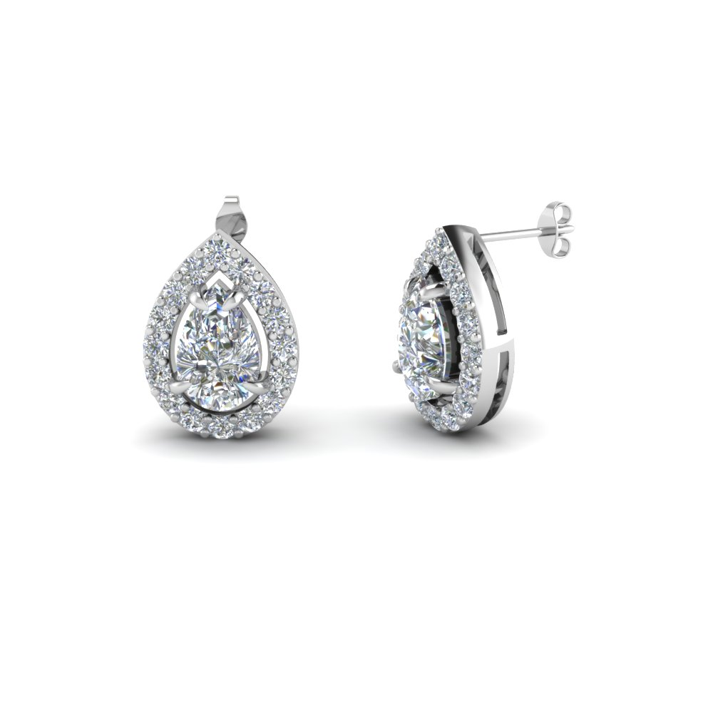 Pear Shaped Stud Earring