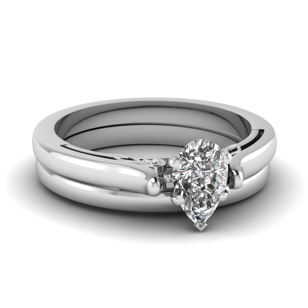 pear shaped diamond cathedral wedding ring set in FDENS2000PE NL WG.jpg