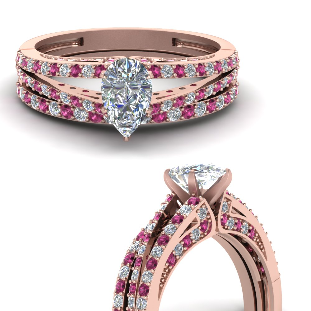 pear-shaped-diamond-wedding-ring-set-with-pink-sapphire-in-FDENS3131PEGSADRPIANGLE3-NL-RG
