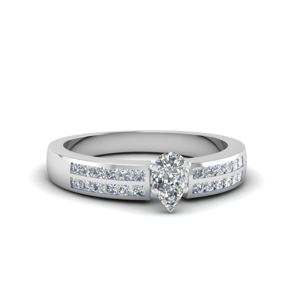 pear shaped double row channel diamond wide ring in FDENS3122PER NL WG