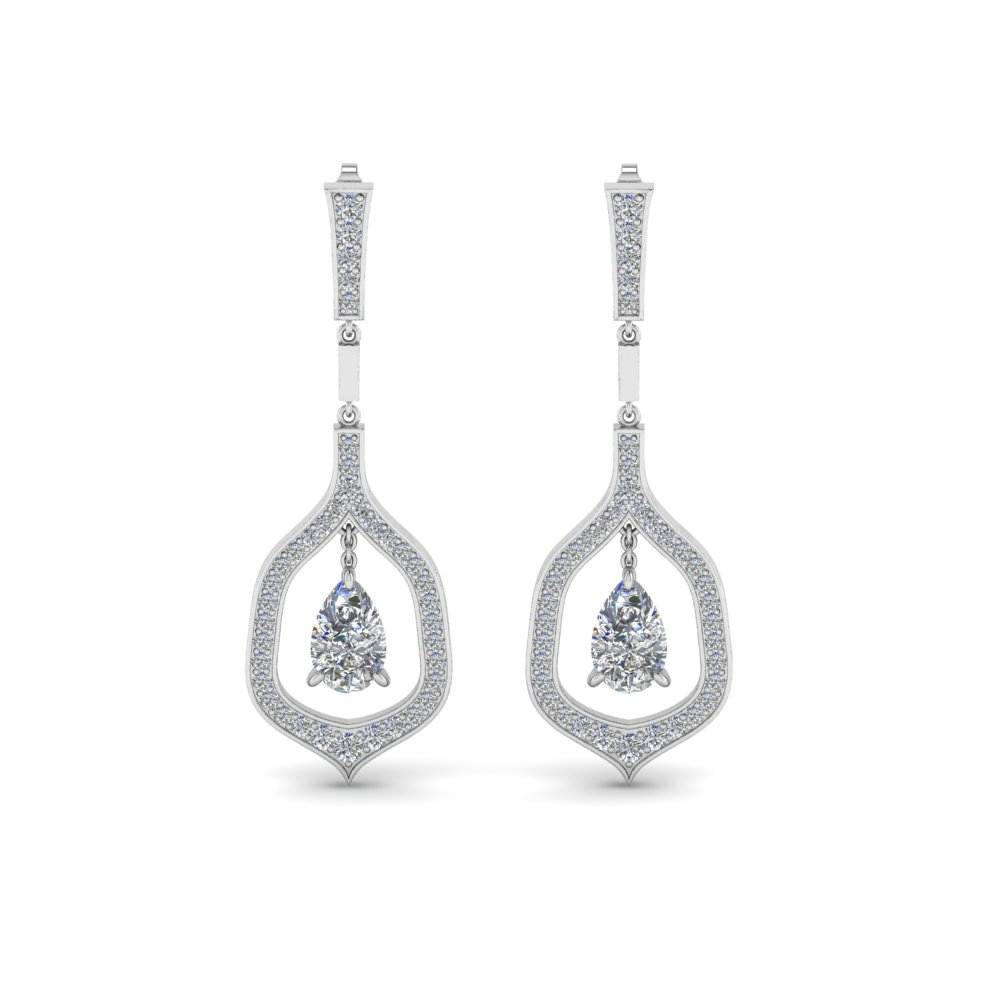 Pear Drop Diamond Earring For Women