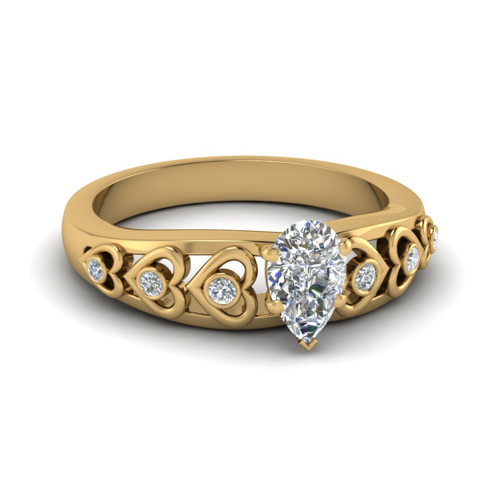 Pear Shaped 1/2 Karat Engagement Rings