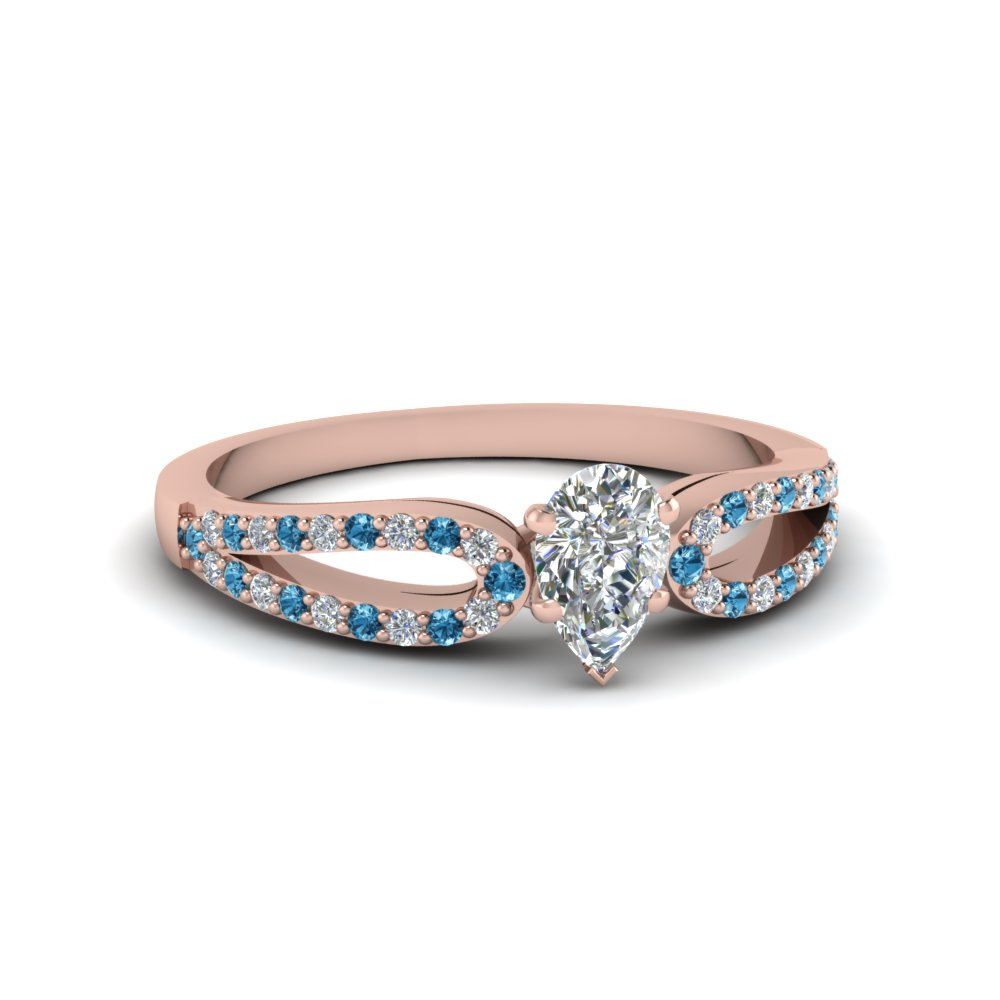 Womens Cheap Wedding Ring With Blue Topaz